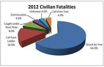 By the Numbers: Civilian Tree Care Accidents in 2012