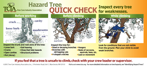 Hazard Tree Quick Check Decals - English