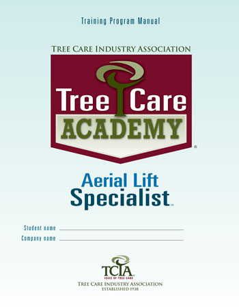 Tree Care Academy Aerial Lift Specialist workbook cover