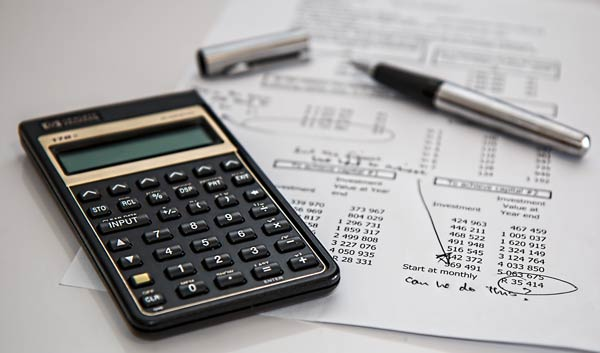 calculator and financials
