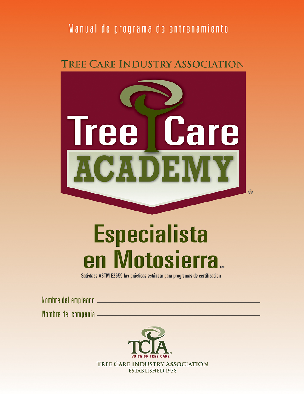 Tree Care Academy Chain Saw Specialist - Spanish